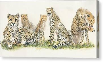 Feline Canvas Print - African Cheetah by Barbara Keith