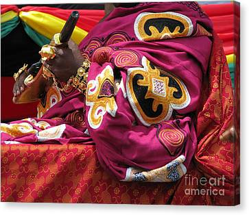 Canvas Print featuring the photograph African Chief by Erik Falkensteen