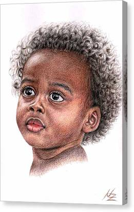 African Child Canvas Print by Nicole Zeug