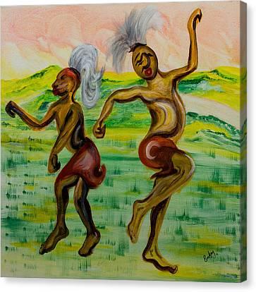 African Dance Canvas Print by Emma Kinani