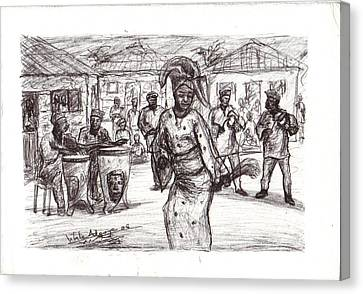 African Dance Canvas Print by Wale Adeoye