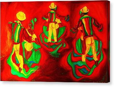 African Dancers Canvas Print by Carole Spandau