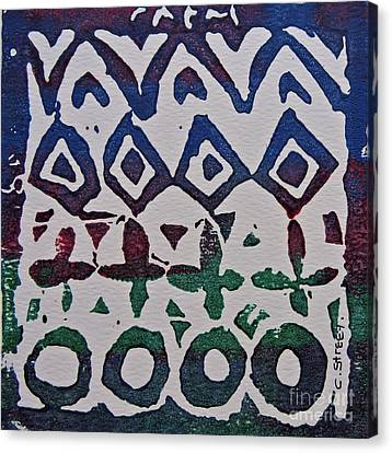 African Design  Canvas Print by Caroline Street