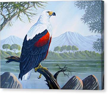 Canvas Print featuring the painting African Fish Eagle by Anthony Mwangi
