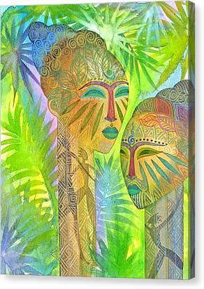 African Forest Queens Canvas Print by Jennifer Baird
