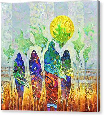 African Girls Canvas Print by Abdelwahab Nour