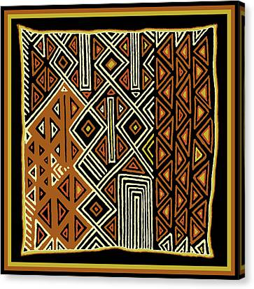 Canvas Print featuring the digital art African Kuba View From Earth by Vagabond Folk Art - Virginia Vivier