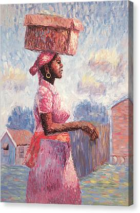 African Lady Canvas Print by Carlton Murrell