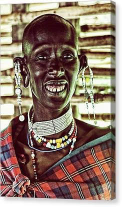 African Maasai Warrior Canvas Print