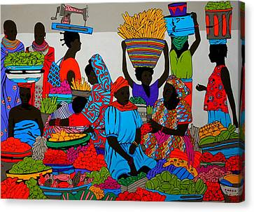 African Marketplace 6 Canvas Print