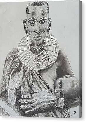 African Mother Canvas Print by Adekunle Ogunade