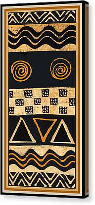African Primordial Spirits - 2 Canvas Print by Vagabond Folk Art - Virginia Vivier