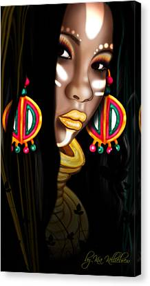 African Princess Canvas Print