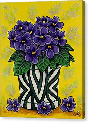 African Violets Canvas Print - African Queen by Lisa  Lorenz