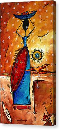 African Queen Original Madart Painting Canvas Print