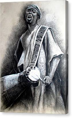 African Rythm Canvas Print by Bankole Abe
