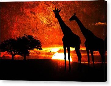 African Safari Canvas Print