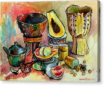 African Still Life Canvas Print by Yelena Tylkina