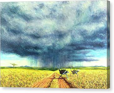 Masai Canvas Print - African Storm by Tilly Willis