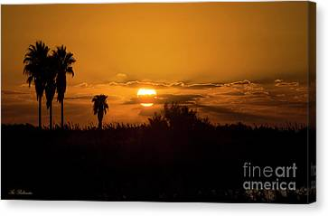 African Style Sunset Canvas Print
