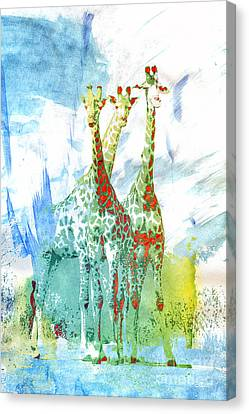 African Trio Canvas Print