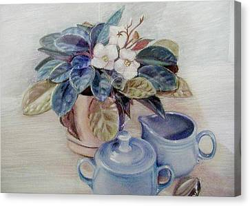 African Violet Still Life Canvas Print by Martha Ayotte