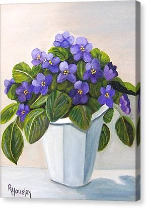 African Violets Canvas Print - African Violets Sold by Ruth  Housley