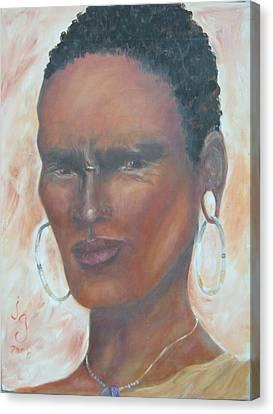 African Warrior Canvas Print by Judie Giglio