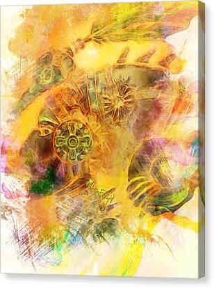 African Warrior Woman Canvas Print