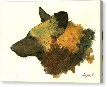 Wild Dogs Canvas Print - African Wild Dog by Juan  Bosco