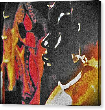 African Woman Statue Canvas Print