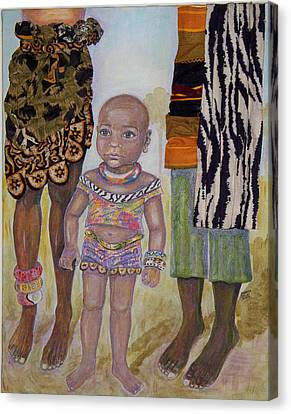 Afrik Girl Canvas Print