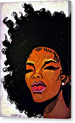 Afrodorable Canvas Print
