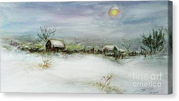 After A Heavy Fall Of Snow Canvas Print