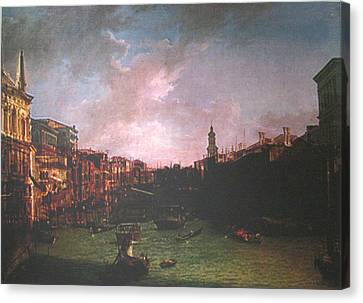 After Canal Grande Looking Northeast Canvas Print by Hyper - Canaletto
