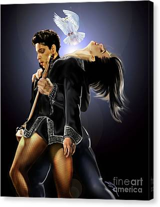 After Doves Cry They Fly Prince Canvas Print by Reggie Duffie