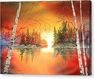 Canvas Print - After Glow by Marilyn Jacobson