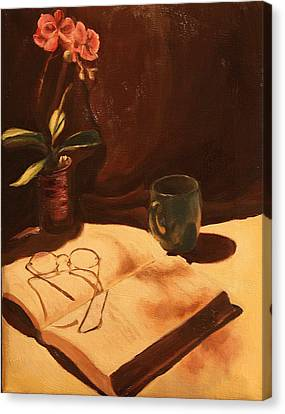 Canvas Print featuring the painting After Hours by Rachel Hames