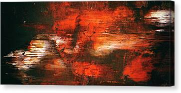 After Midnight - Black Orange And White Contemporary Abstract Art Canvas Print