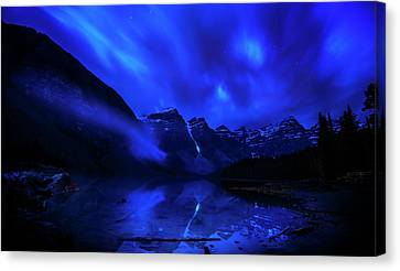 Canvas Print featuring the photograph After Midnight by John Poon