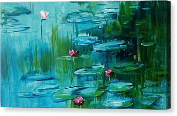 After Monet Canvas Print by Kathy  Karas