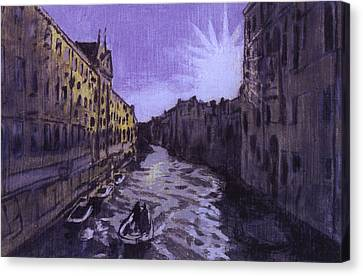 After Rio Dei Mendicanti Looking South Canvas Print by Hyper - Canaletto