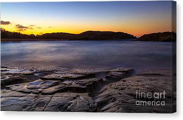 After Sunset In Mar Chiquita Canvas Print by Ernesto Ruiz
