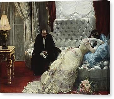 After The Ball Canvas Print by Henri Gervex