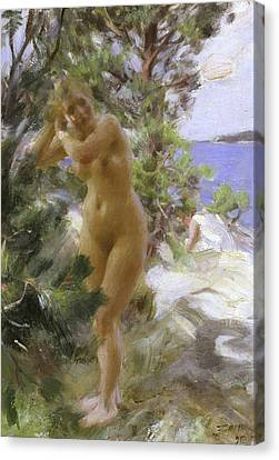 After The Bath, 1895 Canvas Print by Anders Leonard Zorn