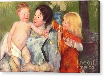 After The Bath Canvas Print by Cassatt