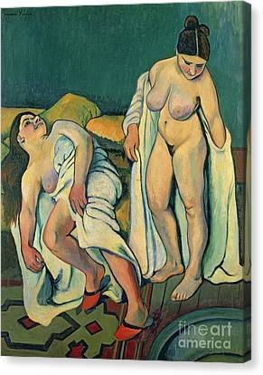 Shower Canvas Print - After The Bath by Marie Clementine Valadon