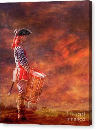 After The Battle Drum Call Canvas Print by Randy Steele