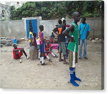 After The Game - Goree Boys Canvas Print by Fania Simon