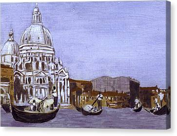 After The Grand Canal And The Church Of The Salute Canvas Print by Hyper - Canaletto